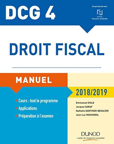 DCG 4 - Droit fiscal 2018/2019-12e éd. - Manuel