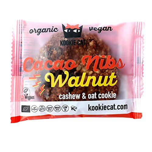 Kookie Cat | Cacao Nib & Walnut Cookie | 10 x 50g