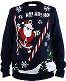 Shineflow Beleuchteter Weihnachtspullover, Weihnachtsmann, für Herren, Jacquard (S)