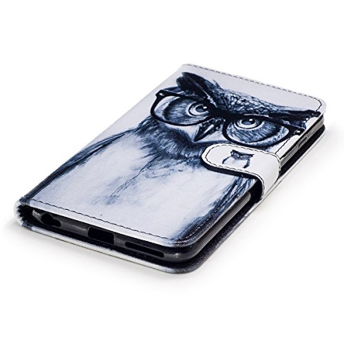 Custodia iPhone 6S plus Cover iPhone 6 plus,Ukayfe Flip Cover Wallet Case Custodia per iPhone 6S plus in pelle PU,iPhone 6 plus Lussuosa Astuccio Custodia Cover [PU Leather] [Shock-Absorption] Protett Occhiali gufo 2#