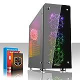 Fierce Medusa Vantage RGB/RVB PC Gamer - Vite 4GHz Quad-Core Intel Core i7 4790, 1To Disque Dur, 16Go of 1600MHz DDR3 RAM / Mémoire, NVIDIA GeForce GTX 1050 Ti 4Go, ASUS H81M-P PLUS Carte Mère, GameMax Sirius RGB/RVB Boite D'ordinateur, HDMI, USB3, Wi - Fi, Parfait pour un jeu compétitif, Windows 10 installé, 3 Ans De Garantie 236854