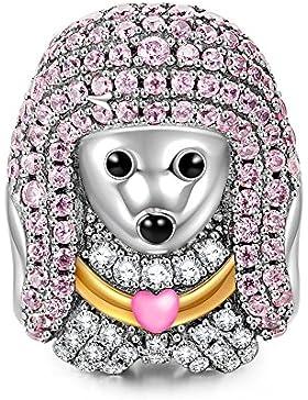 NinaQueen - Königin Pudel - Damen-Charm 925 Sterling Silber (Fröhliche Familie Serie)