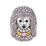 NinaQueen - Poodle Queen - Charm pour femme argent 925 (Famille heureuse série)