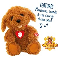 Waffle the Wonder Dog 3403 Interactive Soft Toy, Brown