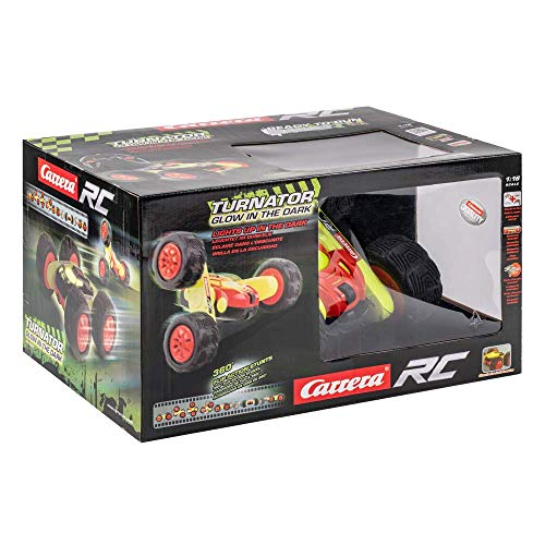 Carrera 370162105 - RC Turnator Glow in The Dark, Ferngesteuertes Auto, mit 360° Action