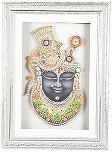 KAN'S Glass-Ceramic Shrinathji Face Photo Frame- (45.72 x 3.81 x 66.04 cm)