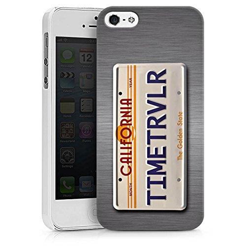 Apple iPhone X Silikon Hülle Case Schutzhülle Nummernschild Future Zeitreise Hard Case weiß