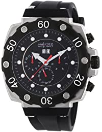 Nautec No Limit Herren-Armbanduhr XL Slagline Analog Automatik Kautschuk SG AT/RBBKSTBKBK