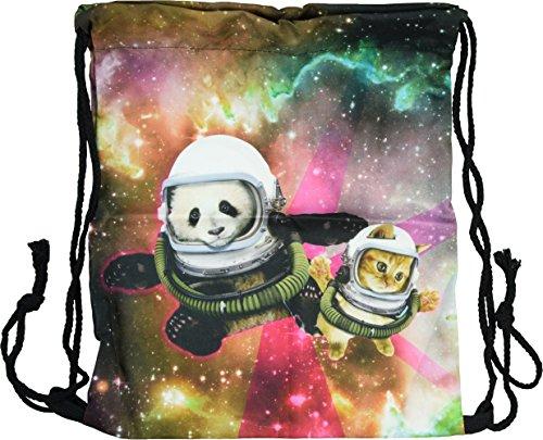 nda Cat Beutel Sportbeutel Kordelverschluss Fullprint Rucksack Jutebeutel Shopping Gymsack Gym Bag Sack (Beutel- Galaxy Panda Cat) ()