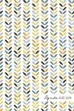 Agenda 2018-2019: Agenda Scolaire de Juillet 2018 à Août 2019, Semainier simple & graphique, motif scandinave feuillage bleu