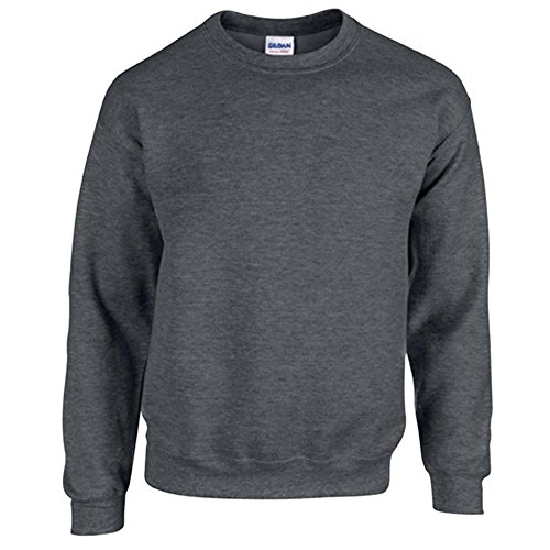 Gildan Heavy Blend Erwachsenen Crewneck Sweatshirt 18000 L, Dark Heather (Crewneck Pullover Blend)