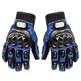 Professionelle  Fahrradfahrer-Short, Sport, Leder, Motorrad, Kraftsport, Rennsport-Handschuhe XL blau
