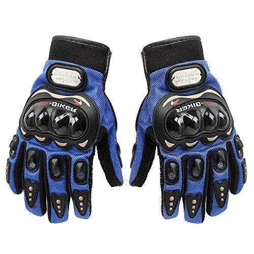 Guantes cortos de piel para motocicleta