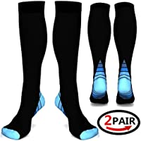 (2or3pairs)Compression Socks / Stockings for Men & Women,Better Blood Circulation, Prevent Blood Clots, Boost Stamina,Circulation, Reduced Fatigue,Speed Up Recovery BEST Graduated Athletic Fit for Run