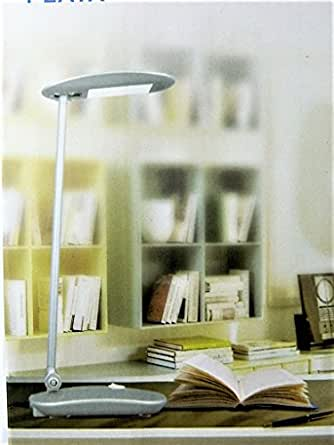 Lampe led de bureau gris chevet flexible table de nuit lecture