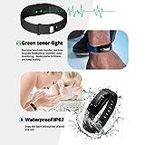 Montre-Connecte-RIVERSONG-WAVE-BP-V07-Tracker-dActivit-Moniteur-de-Tension-Artrielle-et-Frquence-Cardiaque-Montre-Connecte-Podomtre-Bracelet-de-sport-dactivit-avec-lcran-tactile-OLED-Smart-Watch-pour-