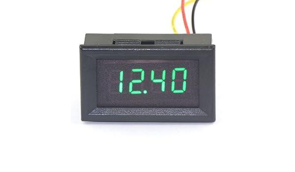DROK® 0 36 Digital Voltmeter DC 0-33V Voltage Tester 4-digit