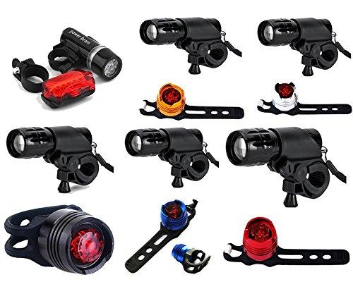 ETU24® Led Lampen Set wasserdicht - CREE LED Taschenlampe Extrem Hell 7 Watt - 1x weißes Licht und 1x rotes Licht - Ideal für Outdoor, Trekking, Camping UVM. Versand aus BRD (Schwarz)