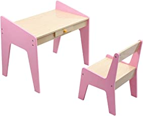 KIDOMATE Study Table & Chair for Toddlers and Kids - (Pink) (Age Group 1-5 Yrs)