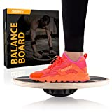 Balance Board - Core Trainer Made Of Wood - Increase Stabilty, Strength and Flexibility
