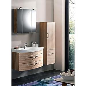 Badmöbel Set 3 Teilig ○ Sonoma Eiche ○ Badezimmer Komplettset: Waschtisch  Mit Unterschrank ○