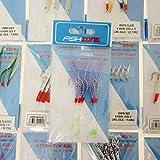Fishzone Rig Pro Serie – confezione da 13 esche di qualità dai colori assortiti per pesca in barca di spigola, sgombro, aringa e merluzzo