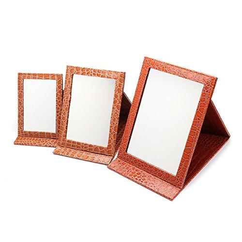 Bluelover Oro Portable Maquillaje Plegable Espejo