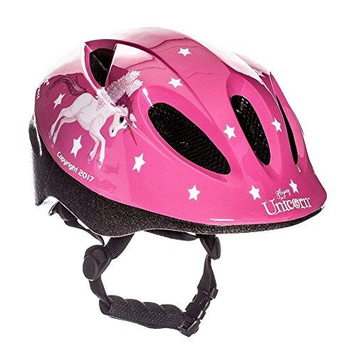 """Sport Direct """"Fliegendes Pferd"""" Fahrrad Helm Kinder Mädchen pink Einhorn 48–52cm CE EN1078: 2012+ A1: 2012"""