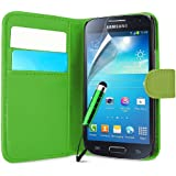 Supergets Schutzhülle für Samsung Galaxy S4Mini I9190mit Magnetverschluss inkl. Displayschutzfolie, Stylus und Reinigungstuch