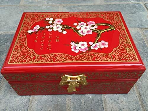 Z&J Pingyao Push Lack Ware Schmuck Box Lack Handwerk Schmuck Box Aus Holz Schmuckschatulle, Gemalt Traditionelles Handwerk,2,21 * 14 * 8 -