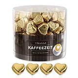 Günthart 150 Stück gold Schokoladen Herzen mit Nougatfüllung | Nougatcreme Kaffeezeit | Schokoladenherzen gold Wien |