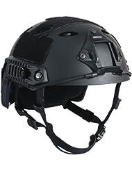 OneTigris PJ tipo ligero táctica rápido casco de seguridad para al aire libre Airsoft Paintball CS juego, negro