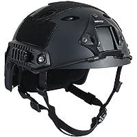 "OneTigris PJ moderno casco táctico ligero para airsoft paintball, color negro, tamaño Kopfumfang: 56cm -61cm (22 ""- 24"")"