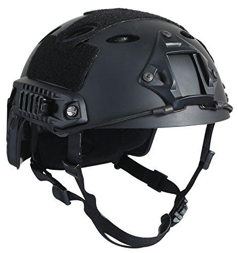 OneTigris PJ Mode Leichtbau Taktische Schnelle Helm für Airsoft Paintball (Schwarz)