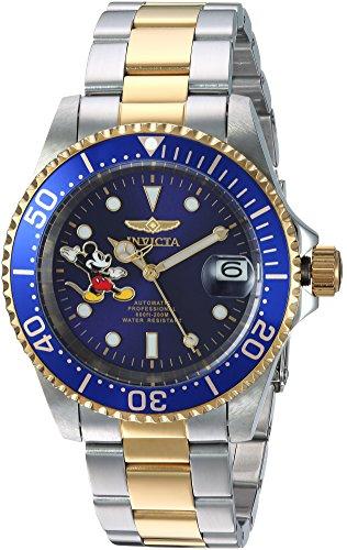 Invicta 24754 Disney Limited Edition - Mickey Mouse Reloj Unisex acero inoxidable Automático Esfera azul