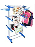 #8: SUNDEX Heavy Duty Stainless Steel Double Pole Foldable Cloth Dryer / Clothes Drying Stand with Lifetime Warranty