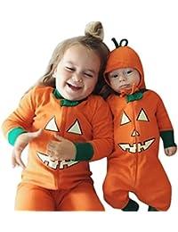 DOLDOA Los niños recién nacidos Niños Bebé Chica Víspera de Todos los Santos Ropa de manga larga Romper traje Jumpsuit