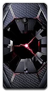 The Racoon Lean printed designer hard back mobile phone case cover for Microsoft Lumia 535. (lightningd)