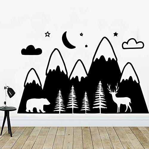 Beauty Wapiti Mountain Wall Sticker Self Adhesive Vinyl Waterproof Wall Decals House Decoration Wallpaper Adesivo De Parede White M 30cm X 47cm - Gucci Messen