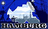 U24 Flagge Fahne Hamburg Skyline 90 x 150 cm
