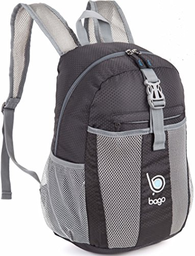 Packable Zaino per gli uomini, donne e bambini - Leggeri pieghevole Zaino - Usa come borsa da viaggio, Daypack, vai avanti per avere più spazio bagagli - si ripiega in E 'Tasca interna Nero