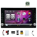 Eincar 6.2' pouces Fen¨ºtres Double 2 Din sur tableau de bord LCD Navigation GPS Lecteur de voiture Bluetooth st¨¦r¨¦o voiture DVD DigitalTouch ¨¦cran moniteur avec ¨¦metteur Autoradio support MP3 / MP4 USB SD AM / FM RDS Radio Receiever Stereo Subwoofer Audio