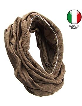kxx-003–Banda para el pelo bandana microfibra elástica ancha cm 35con bordes acanalado–Made in Italy–Cintas...
