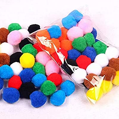 KINGQ Tinsel Pompoms Balls Cat Toy Multicolor Pack of 21