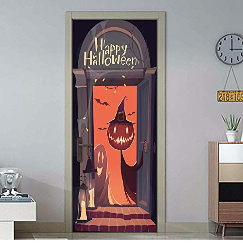 korationen Tür Aufkleber Wohnkultur Holztür Renovierung Aufkleber Vinyl Selbstklebende Tür Wandbild 70X204 Cm ()