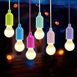 Lamping LED Leuchte, Lampen Camping Laterne,Vanow Tragbare 6 Stück Licht für Wandern, Angeln, Schreibtisch, Camping, Zelt, Garten, BBQ oder einfach als dekorative Lampe Batteriebetrieben
