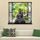 bonytain 3D Lovely abnehmbarer Simulation Buddha Landschaft Home Schlafzimmer Wand Aufkleber art KIDS Zimmer Dekoration 50* 70cm