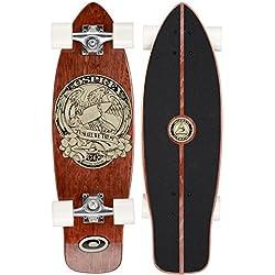Osprey in Skate We Trust Single Kick Skateboard Mini Cruiser Noir/Marron