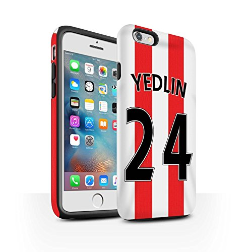 Offiziell Sunderland AFC Hülle / Matte Harten Stoßfest Case für Apple iPhone 6+/Plus 5.5 / Pack 24pcs Muster / SAFC Trikot Home 15/16 Kollektion Yedlin