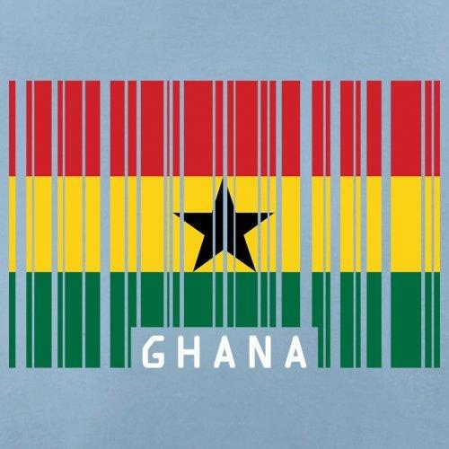Ghana / Republik Ghana Barcode Flagge - Herren T-Shirt - 13 Farben Himmelblau